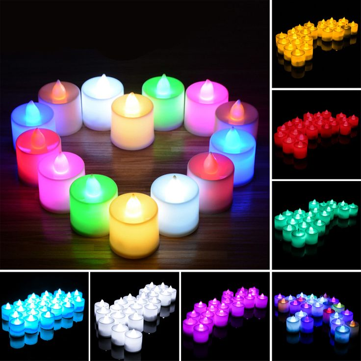 24pcs/lot Battery Operated Flickering Light Flameless LED Tealight Tea Candles Holiday Party Wedding Home Decorative Light #Affiliate