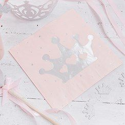🎉 JUST ADDED - Itty Bitty Party Princess Perfection Silver Foiled Napkins 🎈  VIEW HERE: