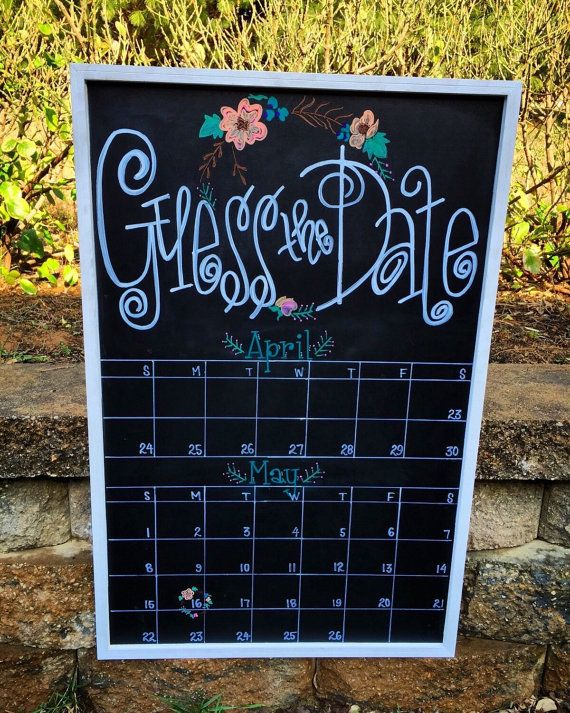 Guess the Due Date Calendar  Custom by YouAlphabetcha on Etsy