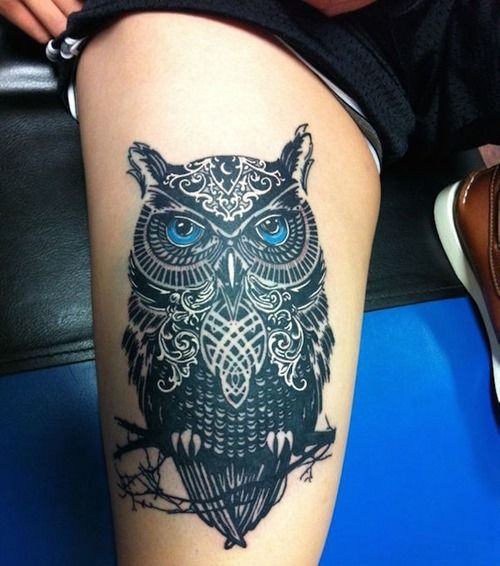 39 Cool Thigh Tattoos for Girls (7)