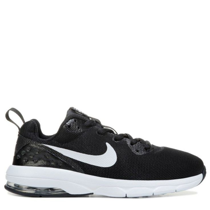 Nike Kids' Air Max Motion Running Shoe Preschool Shoes (Black/White)