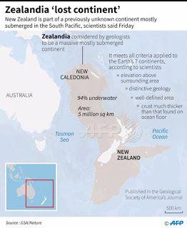 Η Νέα Ζηλανδία διεκδικεί να γίνει η όγδοη (ή η έβδομη) ήπειρος της Γης