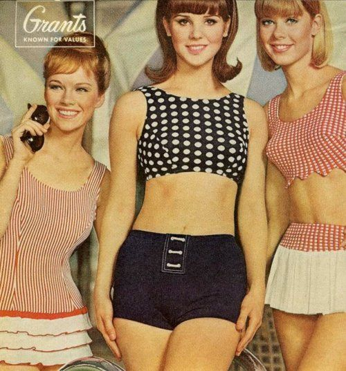this was our idea of a bikini back in the day!