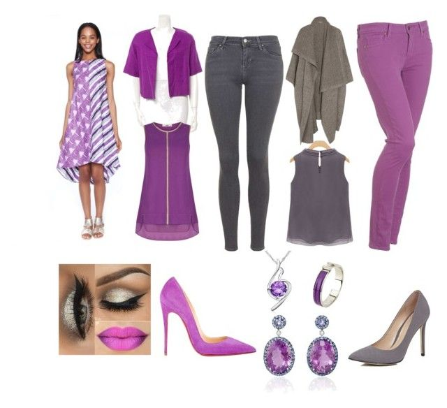 radiant orchid by siahaanastrid on Polyvore featuring STELLA McCARTNEY, Kate Spade, Oasis, Paige Denim, Topshop, Christian Louboutin, River Island and Hermès