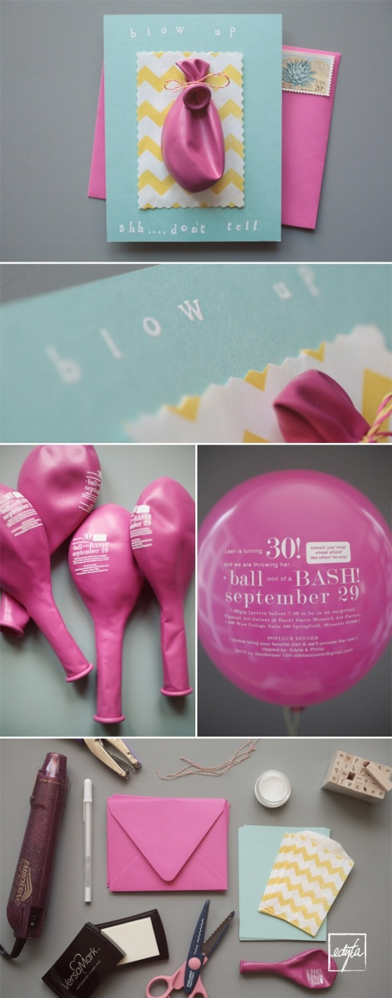 adorable surprise birthday DIY invitations