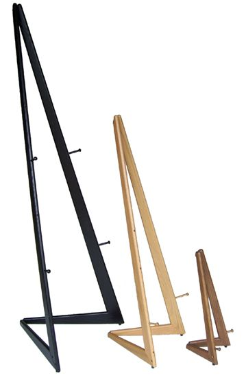 Our Bifold Wooden Easel is a Xylem Design original and our best selling wooden display easel.    Available in your choice of wood textures and colors, the simple lines of this contemporary wooden easel complement any interior.