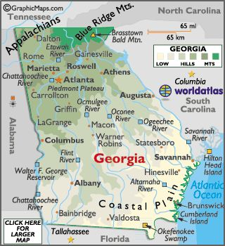 Atlanta Map - Atlanta Georgia Attractions, Facts and Information ...