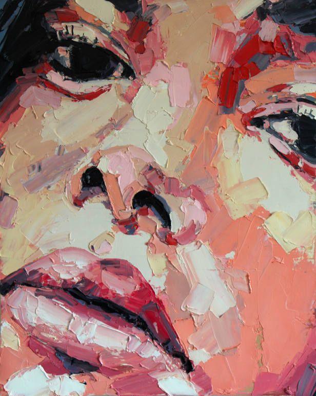 "Saatchi Art Artist: thomas donaldson; Oil 2014 Painting ""6-9-14 head with orange"""