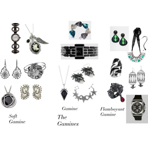 """True Winter Jewelry 3 Gamines"" by christinems on Polyvore - not my style but stunning anyway :)"