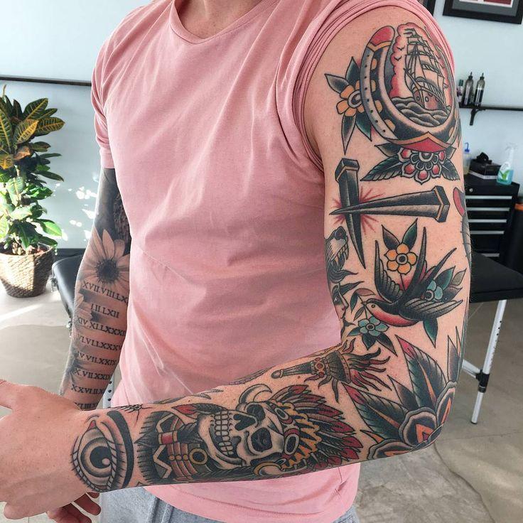"""10.9k Likes, 29 Comments - Rad Trad Tattoo (@rad_trad_tattoo) on Instagram: """"Rad work done by @lewisparkin ________________________________ #tattoo #tattoos #traditionaltattoo…"""""""
