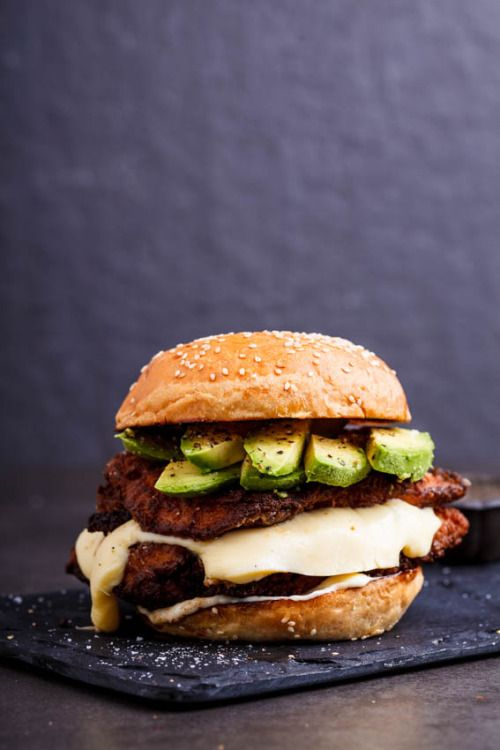 Crispy Chicken, Mozzarella and Avocado Sandwich
