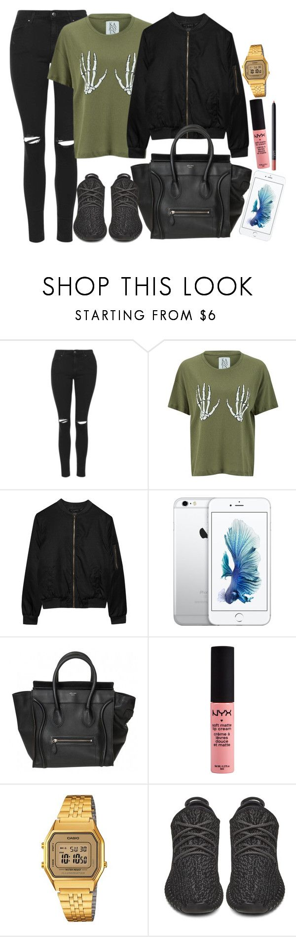 """Zoe Karssen , Alygne and Topshop"" by camrzkn ❤ liked on Polyvore featuring Topshop, Zoe Karssen, Alygne, Casio, adidas Originals and NARS Cosmetics"