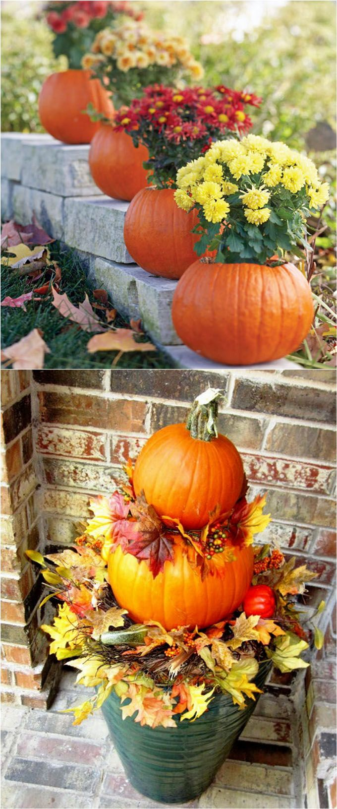 104805 best great gardens ideas images on pinterest Fall outdoor decorating with pumpkins