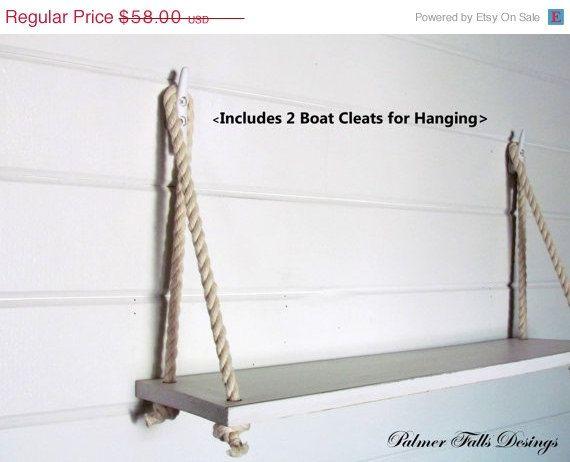 Dock cleat shelf