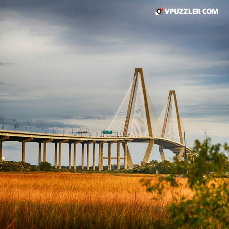 The Arthur Ravenel Jr. Bridge #USA #SouthCarolina #architecture #highway #sun