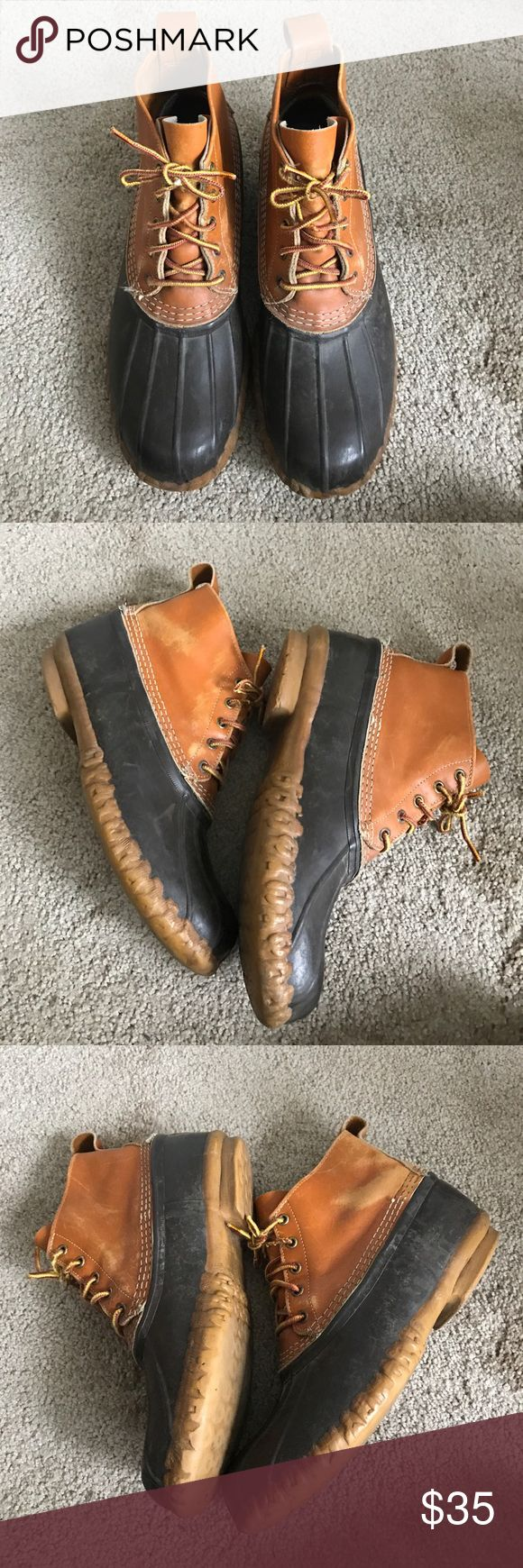 L.L. Bean boots Men's duck boots in good lightly used condition L.L. Bean Shoes Boots