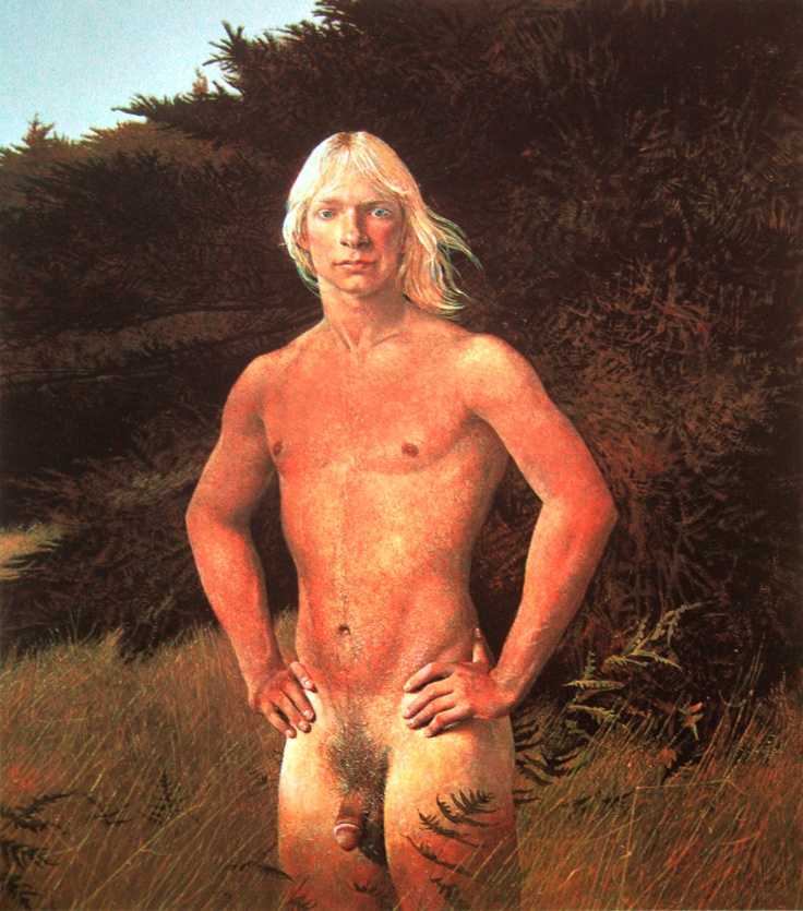 Andrew Wyeth's The Clearing.Andrew Wyeth, Art Nude, Gayart, Male Art, Figures Painting, Gay Art, Art Andrew, Clear Wyeth, Art Painting