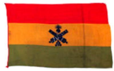 Banderola de Artillería boliviana capturada en la Batalla de Tacna.