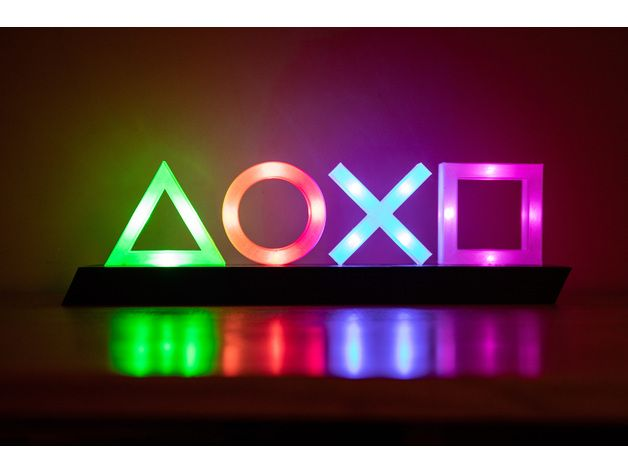 Playstation Icons Lights By Aelkaim Thingiverse Playstation Room Video Game Rooms Gaming Decor