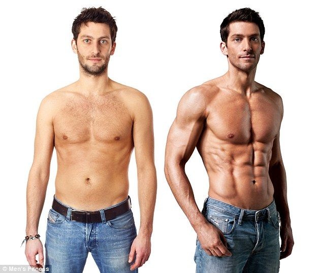 Well, hello! Joe shows off the incredible results of his 12-week fat busting regime