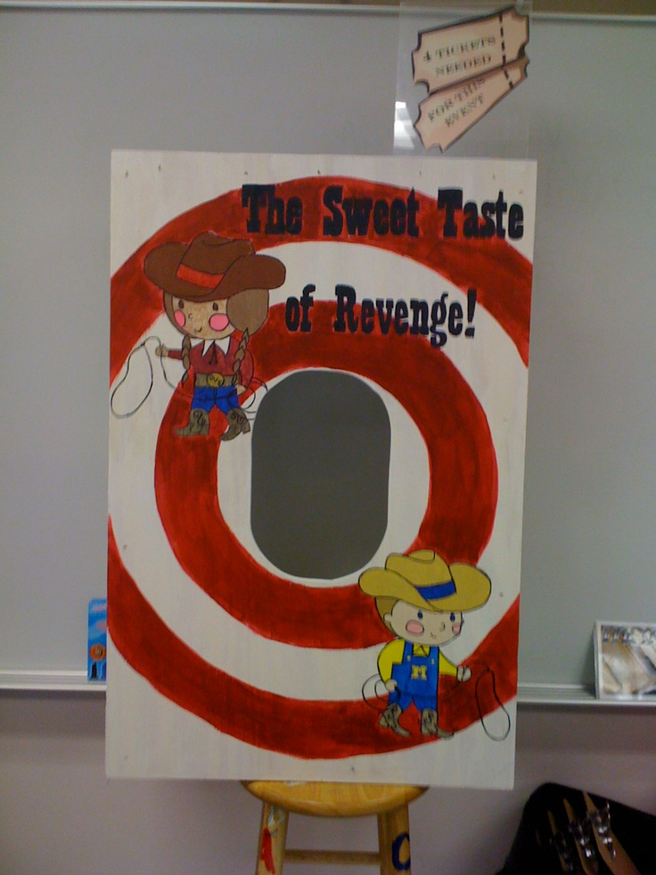 Pie in the Face board | Things I've Made | School carnival ...