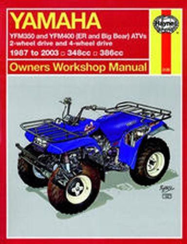 Yamaha Yfm350 Atv Owners Workshop Manual: Models Covered : Yfm350Er, 1987 Through 1995, Yfm350Fw (Big Bear), 1987 Through 1995 (Hayne's Automotive Repair Manual)