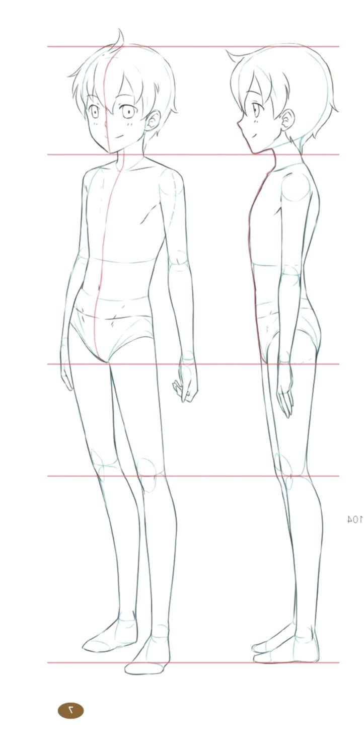 Clippedonissuu From The Master Guide To Drawing Anime How To Draw Original Cha Person Template Body Template Character Design Tips