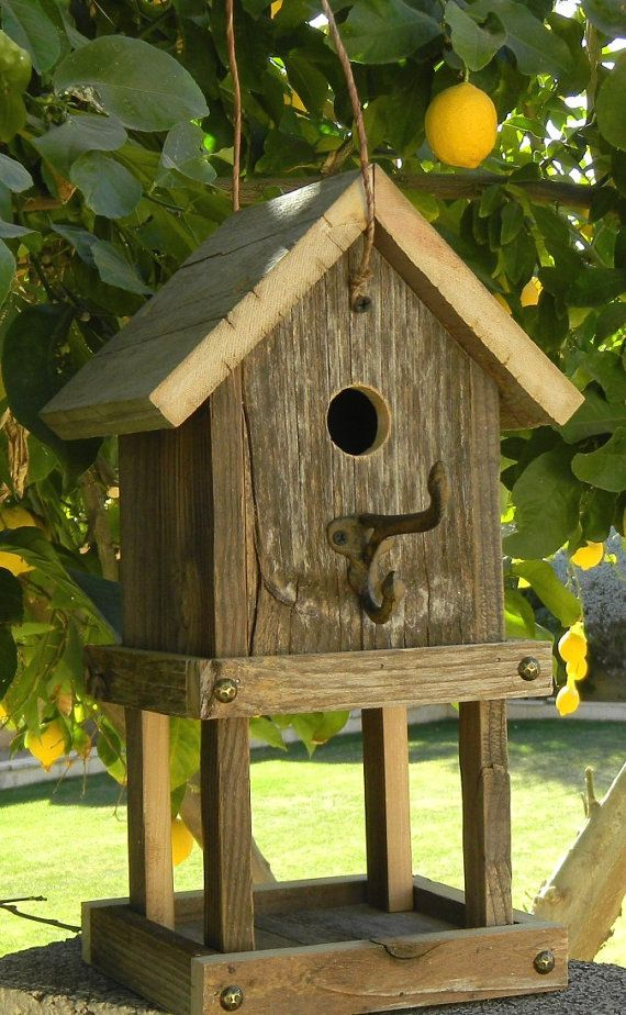 Rustic Birdhouse Feeder 264 by Forthebirdsandmore on Etsy