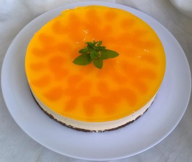Nepečená mandarínková torta  - recept