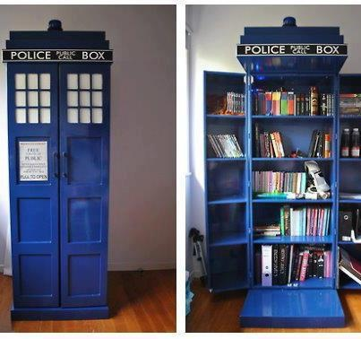 TARDIS Basically make it a giant in/out box where students can turn in and pick up their work.