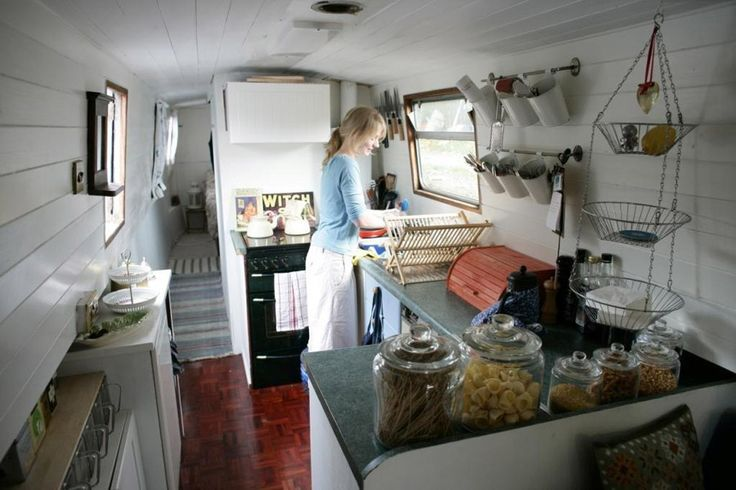Cozy kitchen on houseboat