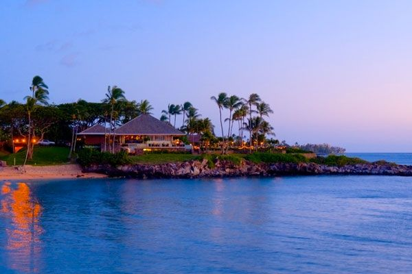 Merriman's in Kapalua--wonderful small meals at happy hour with a beautiful view and perfect to arrive just before sunset!!