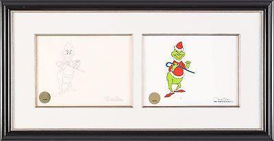 1996 How the Grinch Stole Christmas Chuck Jones Seuss signed cel/draw seal COA 2