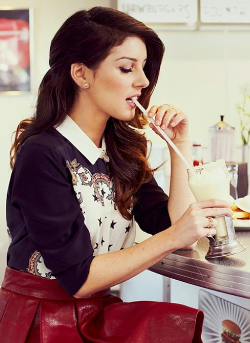 Shenae Grimes from her feature on StyleCaster.com... That skirt tho!!!