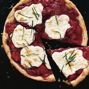 Strawberry Jam Tart-- Is it pizza or dessert?