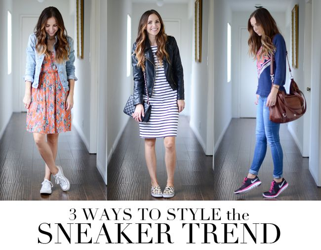 3 Ways to Style the Sneaker Trend (in a non-athletic outfit)