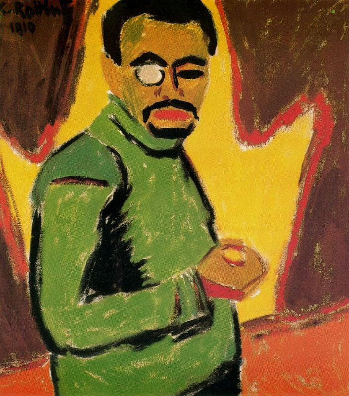 Self portrait with monocle 1910 Karl Schmidt-Rottluff