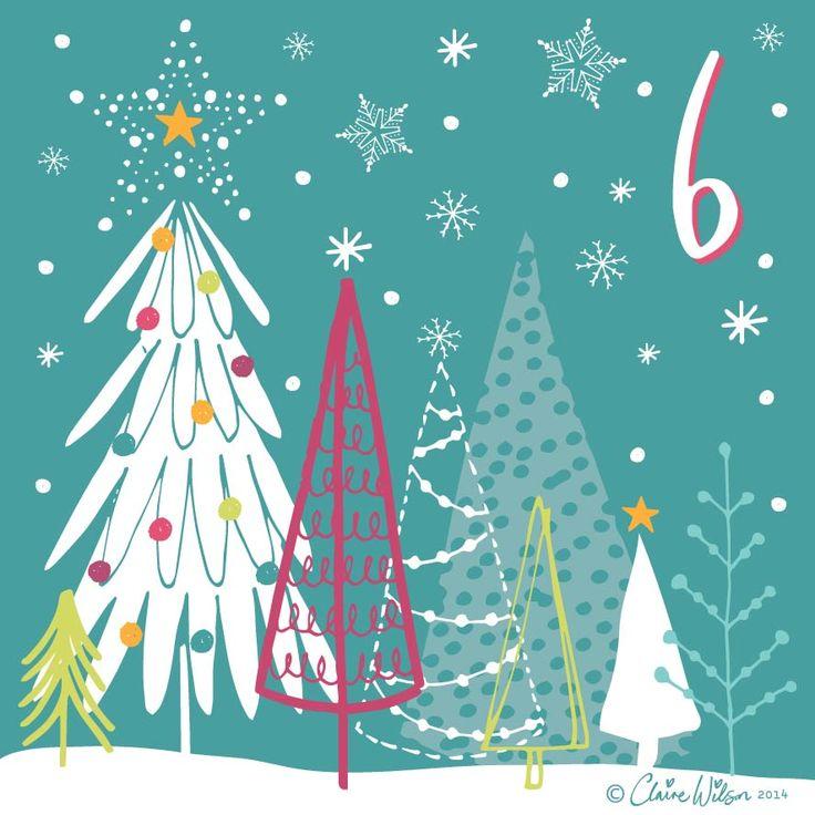 Advent Calendar 2014-06 claire wilson designs