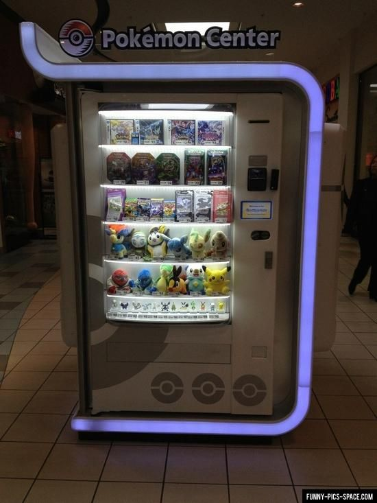 Pokemon Center Vending Machine - my life is complete. Now where can i find one!!!