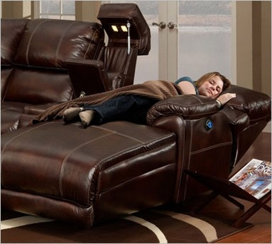 Franklin 572-12 Chocolate Sectional...I like the fully reclining chaise