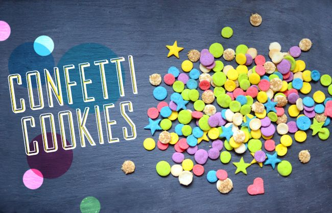 Edible Confetti! Swap these tiny lime cookies for paper confetti at your next party.