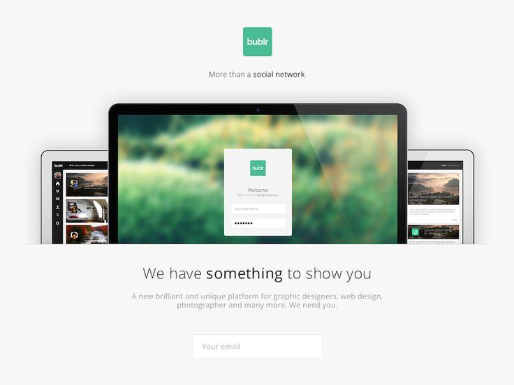 Bublr Landing Page by mcase