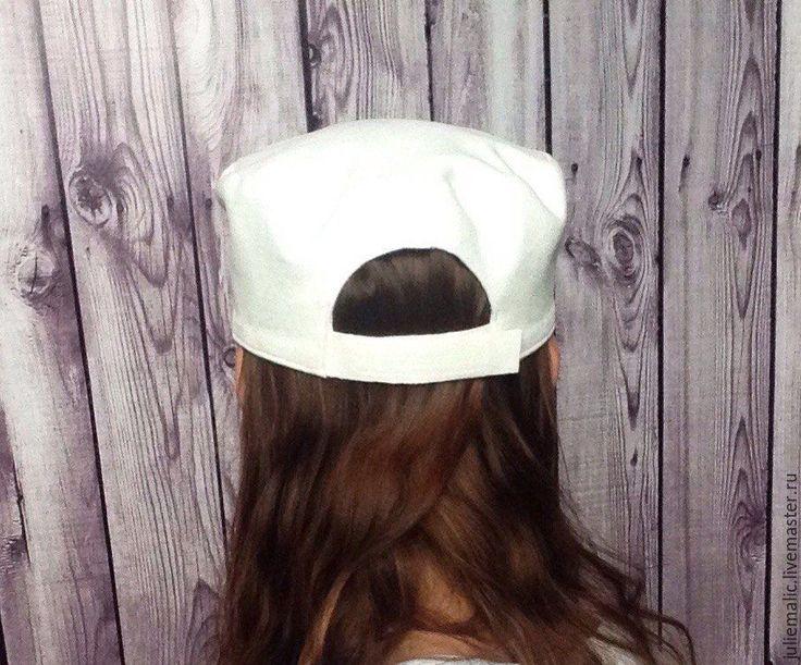 Купить Дизайнерская замшевая кепка (искусственная замша) белая - кепка, бейсболка, шапка женская, шапочка