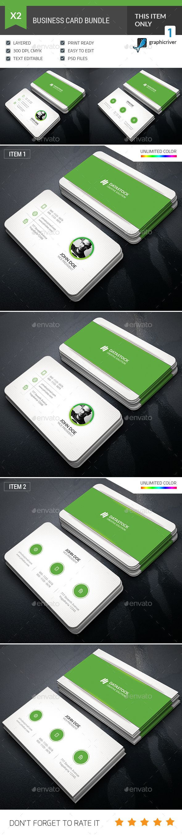 Business Card Bundle Templates PSD. Download here: https://graphicriver.net/item/business-card-bundle/17105505?ref=ksioks
