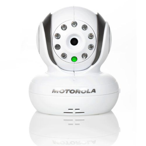 The Motorola BLINK1 Wi-Fi Video Baby Monitor Camera - White allows you to watch children dream from anywhere. Access and control the baby camera remotely vi