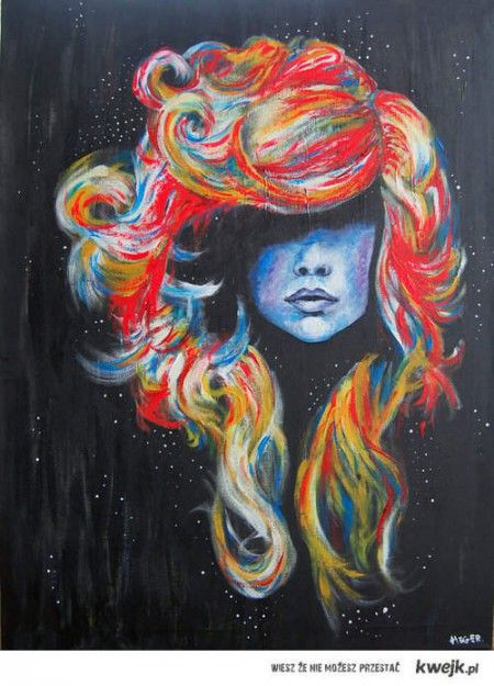 pastel art! I want to try! I did try and it didn't go so well. Love this use of color though. The blue is perfect