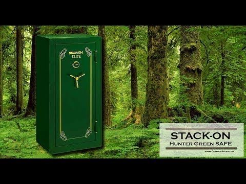 Stack On Gun Safe Hunter Green Gun Safe Series. Stack-On is well-known among Gun Owners for their Quality and Affortable Safes - www.CowboySafes.com