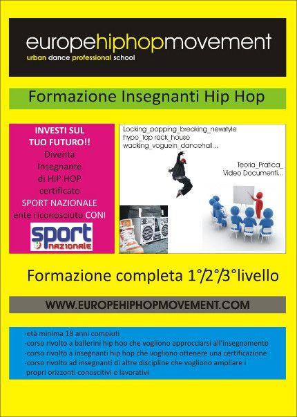 FORMAZIONE INSEGNANTI HIP HOP 1°LIVELLO « weekendinpalcoscenico la danza palco e web | IL PORTALE DELLA DANZA ITALIANA | weekendinpalcoscenico.it