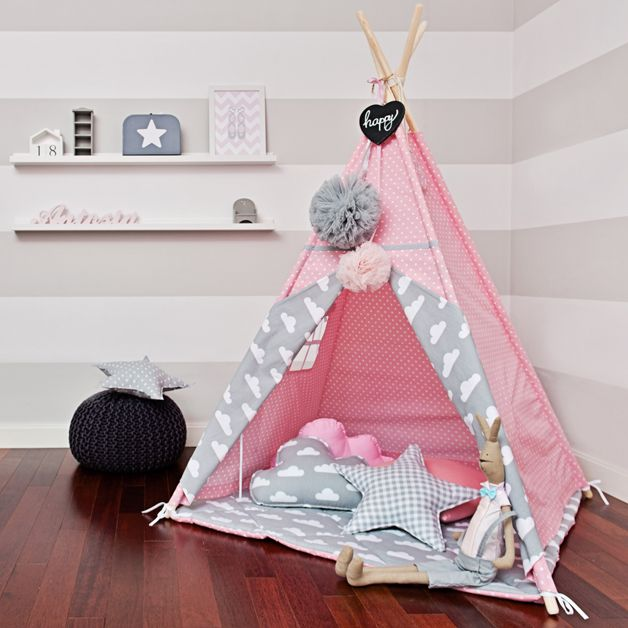 Kinderzimmerdekoration, Tipi zum Spielen, Indianerzelt, Kinderzelt / children's room decor, teepee for playing, children's tent made by FUNwithMUM via DaWanda.com