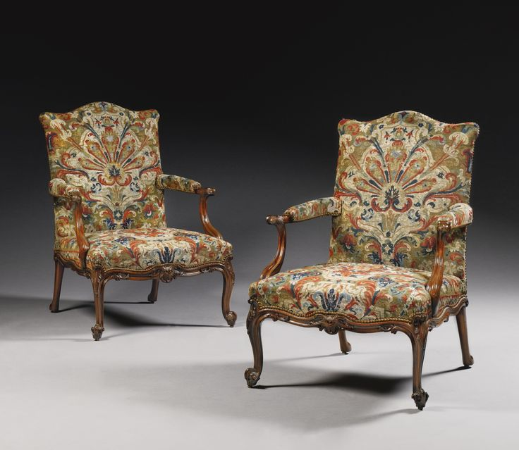 a pair of george iii carved mahogany library arm chairs circa sold upholstered